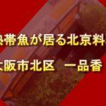 【食レポ】大阪市北区本庄の北京料理 「一品香」【トロピカルフィッシュ佐野の近所】
