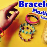 """ペットボトル工作【ブレスレット】作り方 簡単で可愛いな夏休みの工作♪◇DIY """" Bracelet """" using plastic bottles"""