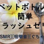 [ASMR][咀嚼音][作業音ASMR] ペットボトルで簡単クラッシュゼリー 作り方動画