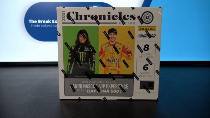 1 Box of 2021 Panini Chronicles Racing (Random First Letter of Last Name) (Break ID: 30137)