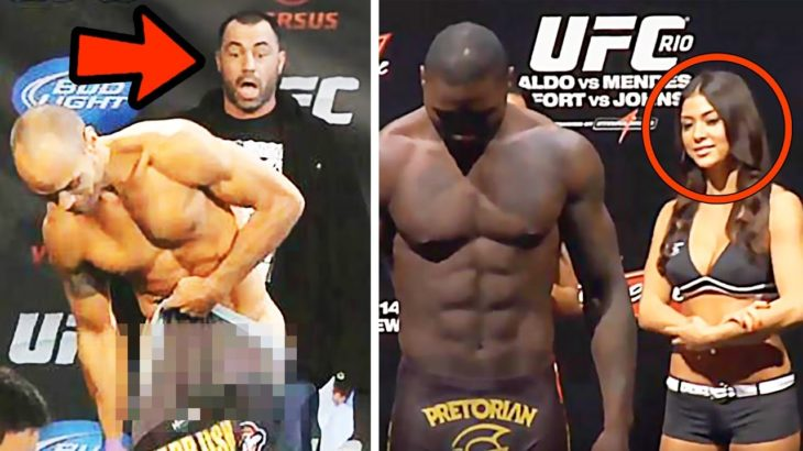 10 Most Embarrassing UFC Weigh-In Moments!